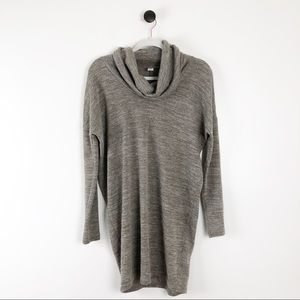 Old Navy Cowl Neck Tunic Sweater Brown Grey S